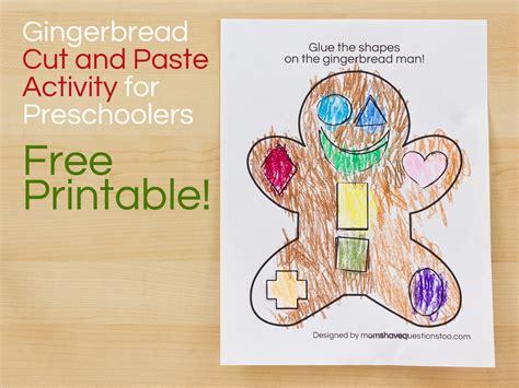 gingerbread activities preschool gingerbread cut and paste preschool activity 896