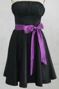 bridesmaid sashes black bridesmaid dresses with purple sash dresses trend