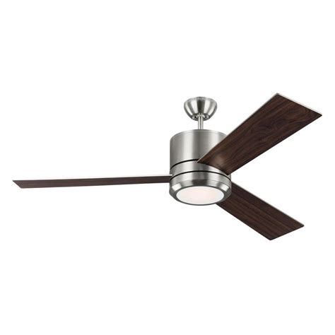 outdoor metal ceiling fans monte carlo vision max 56 in indoor outdoor brushed steel