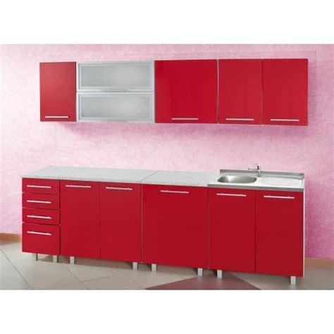 meuble cuisine rouge cuisine en image
