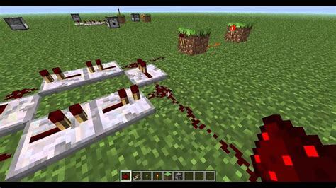 How Make Simple Redstone Circuit Minecraft Repeater