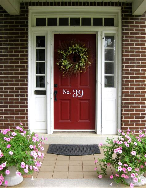 front door colors brick home front entry before