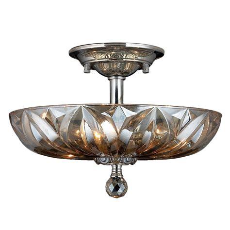 semi flush mount lights worldwide lighting mansfield 4 light chrome and golden