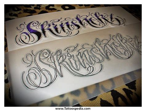 Tattoo Lettering Script Calligraphy 3