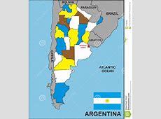 Argentina Map Stock Photo Image 10182090