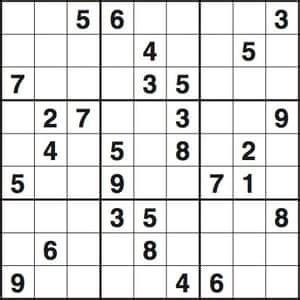 sudoku  medium life  style  guardian