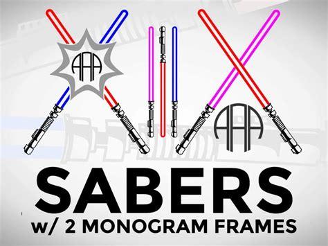 sale svg light sword sabers circle monogram frame etsy circle monogram monogram