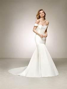 Elegant mikado wedding dress with off the shoulder sleeves for Wedding dresses delaware