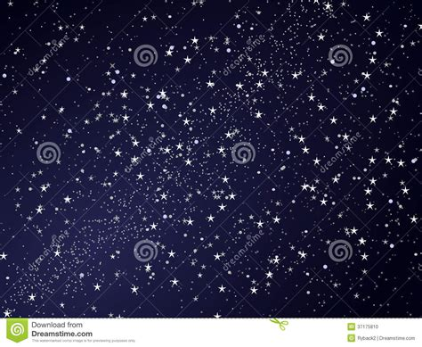 Abstract Star Night Sky Stock Photo Image 37175810