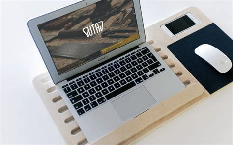 minimalist tech terminals gutav wooden mobile laptop stand