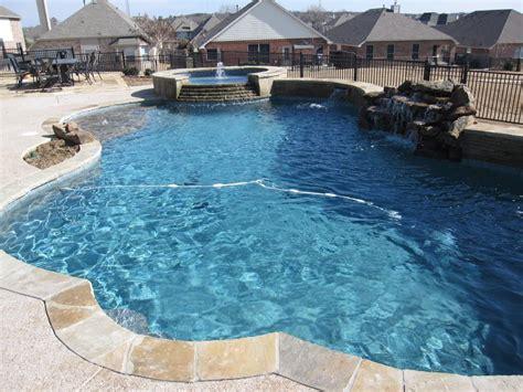 blue granite pebble sheen pool build  north fort