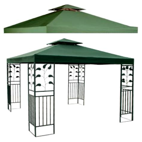 10 x 10 replacement canopy top green new outdoor gazebo 2