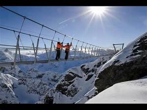 """""""Titlis Cliff Walk"""" Europe's Highest Suspension Bridge in ..."""