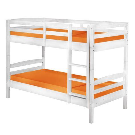 lit superposé avec acheter le lit superposé david blanc white wash