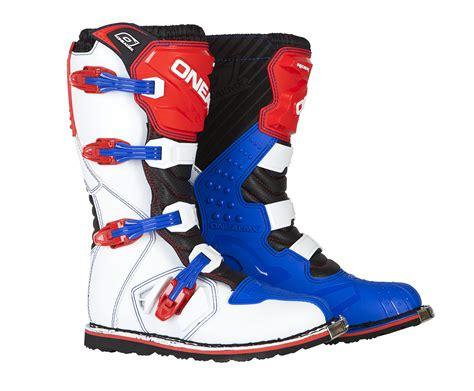 blue dirt bike boots o 39 neal blue red white rider mens dirt bike boots 2017 atv
