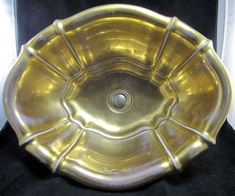 sherle wagner italy sink vtg sherle wagner burnished gold scalloped sink italy
