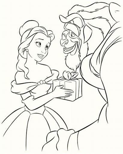 Beast Beauty Pages Coloring Printable Disney
