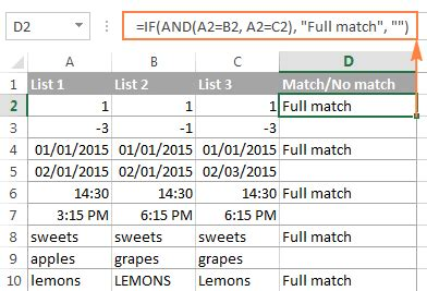 compare  columns  excel  matches