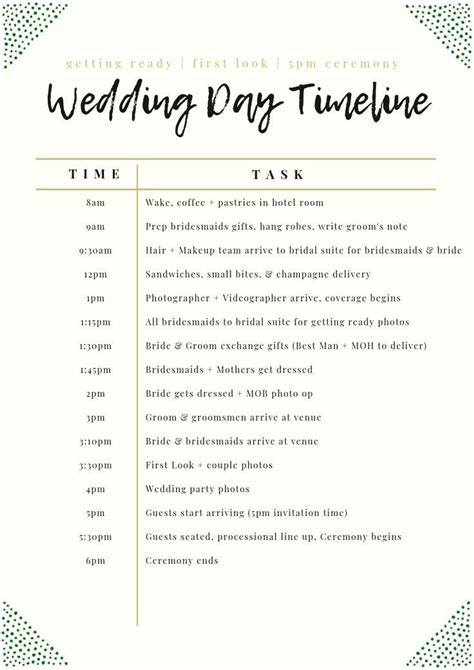 wedding day timeline day timeline wedding wedding