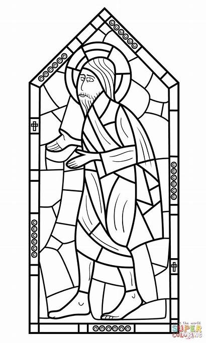 Stained Coloring Glass Vitral Colorir Window Colorare