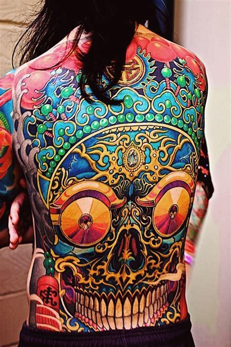 ethnic skull  school tattoo idea    tattoo