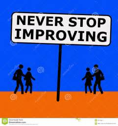 Never Stop Improving