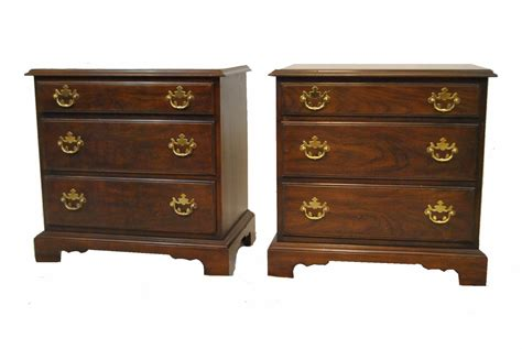 Nightstands With Drawers by Pair Of Cherry Nightstands With Three Drawers By Drexel