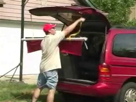 tailgating  home portable canopy awning invention demo youtube