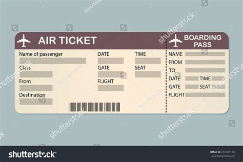 Boarding Pass Template Pin Blank Boarding Pass Template On