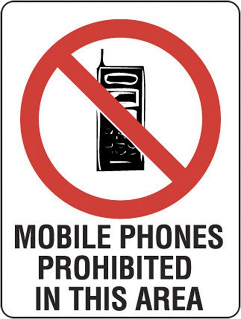 disposable toilet prohibition sign mobile phones prohibited