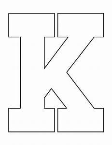 Letter Outlines Printable Letter K Pattern Use The Printable Outline For Crafts