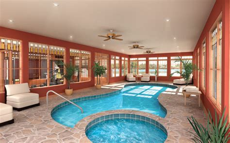 indoor swimming pools house plans