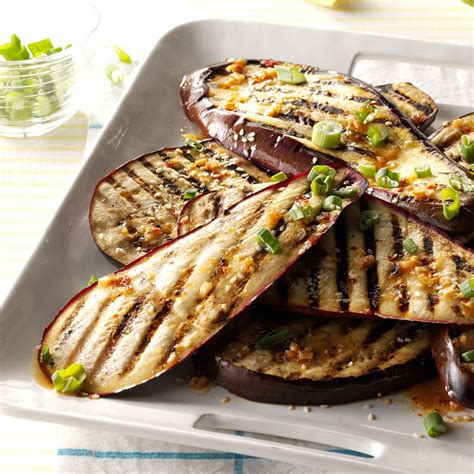 side dish with bbq chicken lime and sesame grilled eggplant recipe taste of home
