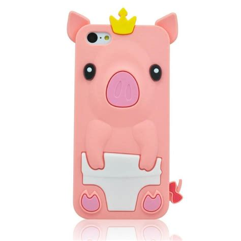 iphone 5c 3d cases byg pink 3d pig animal silicone