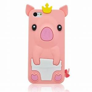 Amazon.com: BYG pink 3D Pig Cartoon Animal Silicone Case ...