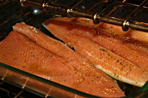 how to cook fish in oven how to cook red steelhead trout fillet fish in oven livestrong com