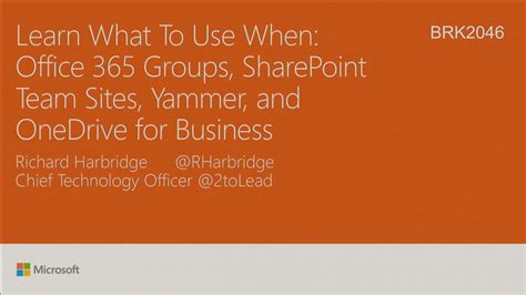 Learn What To Use When Office 365 Groups, Sharepoint Team Sites, Yammer, And Onedrive For