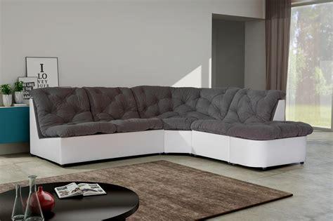 canapé d angle poltronesofa cdiscount canapé d angle noir et blanc