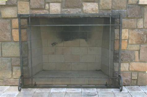 rustic fireplace screens rustic iron freestanding screen