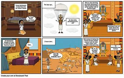 Comic Ancient Egypt Strip Hatshepsut Storyboard Slide