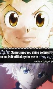 Killua- Gon, you are light. ~Hunter X Hunter | Hunter X ...