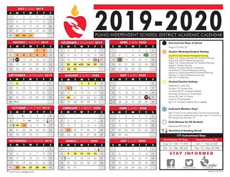 plano isd calendar printable images