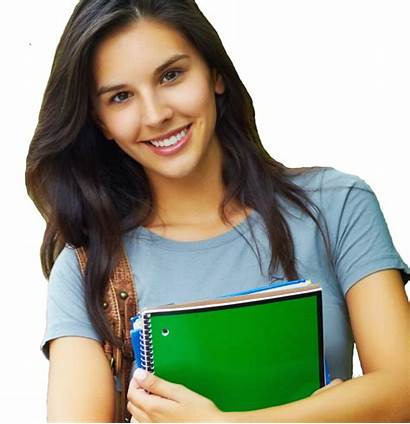 Student Female Transparent Students Background Happy College