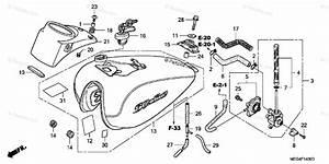 Honda Motorcycle 2006 Oem Parts Diagram For Fuel Tank