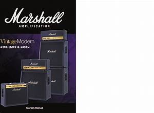 Marshall 2266 Users Manual