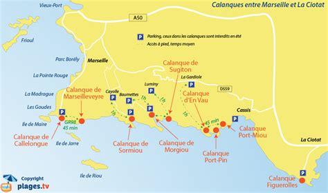 Carte Sud Cassis by Marseille Cassis Et Frioul Calanques Et Plages