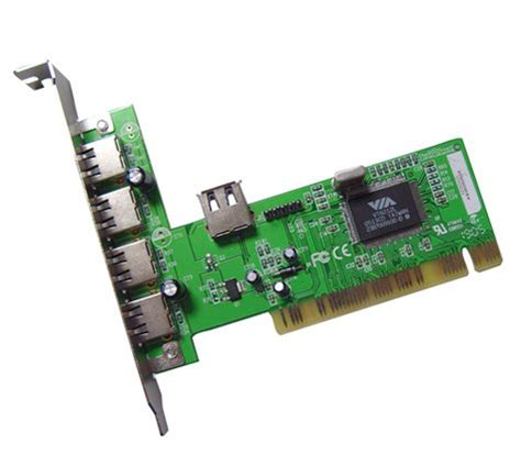 usb port soldered      pci usb card
