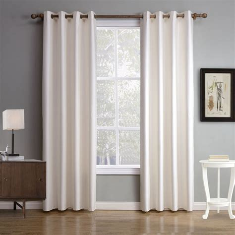 white plain blackout thermal bedroom curtains simple