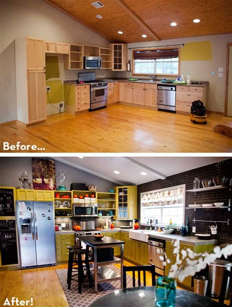 budget friendly before and after kitchen makeovers diy before and after 25 budget friendly kitchen makeover