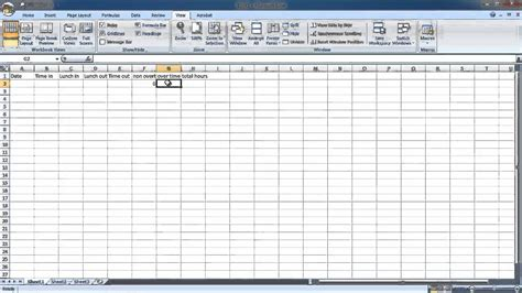 how to make hourly work time sheet youtube